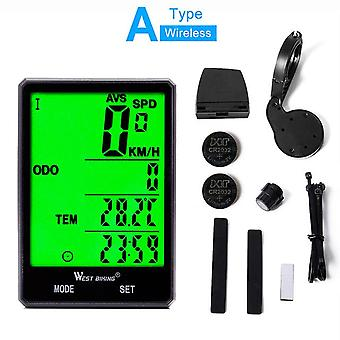 Waterproof bicycle computer speedometer 2.8in road mtb bike computer wireless and wired odometer stopwatch cycling accessories
