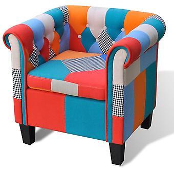 vidaXL كرسي مع النسيج تصميم الترقيع
