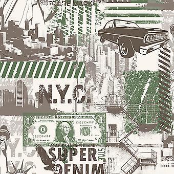 Ugepa Liberty Green Wallpaper L32404