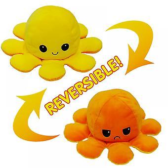 Lohill Funny Dobbeltsidet Flip Reversibel Blæksprutte Cute Plys Legetøj Dyr Doll Gift