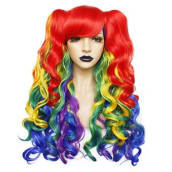 Cosplay Wigs Double Ponytails Long Curl Synthetic Hair Wigs