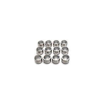 12Pcs Edelstahl Magnetische Gewürz dose Küche Aufbewahrungsbehälter Gläser klarer Deckel
