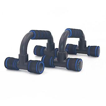 I-shaped Push-up Rack Indoor Fitness Machine Chest Training Foam Push-up Rack(Blue)