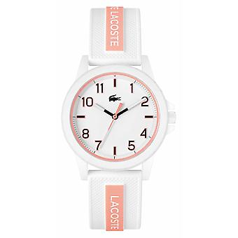 Lacoste Rider Белый и розовый силиконовый ремешок 2020143 Часы