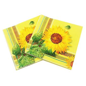 20pcs Sunflower Paper Napkin - Party Supply Tissues