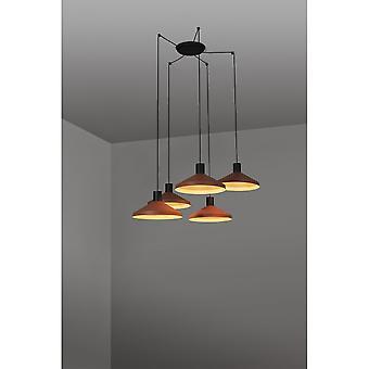 Cluster hanger plafondlamp oranje, E27