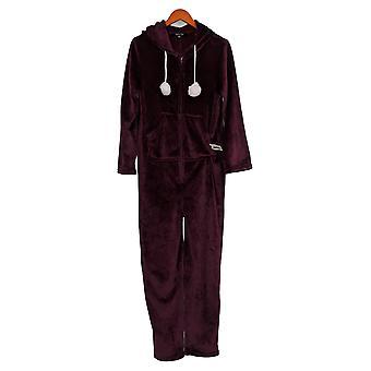 Soft & Cozy Jumpsuits Warm One-Piece With Hoddie Purple