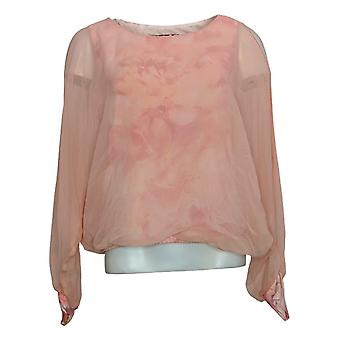 Brittany Humble Women's Top Cold Shoulder Dolman-Sleeve Poncho Pink 749783