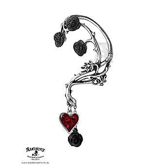 Letto gotico alchimia di sangue Rose orecchio Wrap