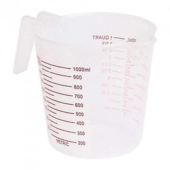 1pc Transparent Baking Tools Kitchen Tools 250/500/1000 Ml Scaled Quality Plastic Measuring Cup Tool Cup