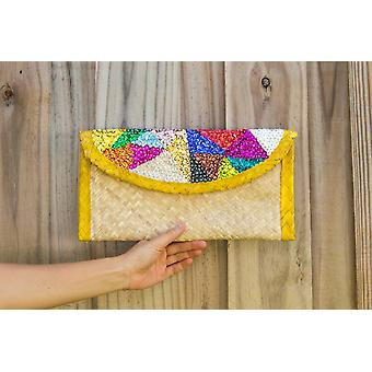 Messenger bags clutch bag with colorful sequin embroidery triangles sm118081