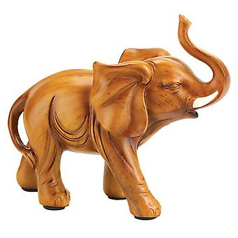 Accent Plus Wood-Look Lucky Elephant - 5.1 inches, Pack of 1