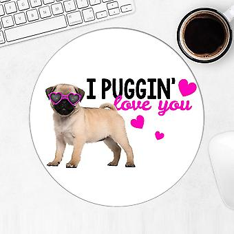 Gift Mousepad: Pug Puppy Photography Valentines
