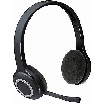 Usb adapters h600 wireless headset  stereo headphones with rotating noise-cancelling microphone  usb