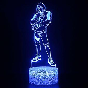 3D مصباح اللمس أضواء ليلة الاطفال 7 ألوان مع التحكم عن بعد - Fortnite # 1132