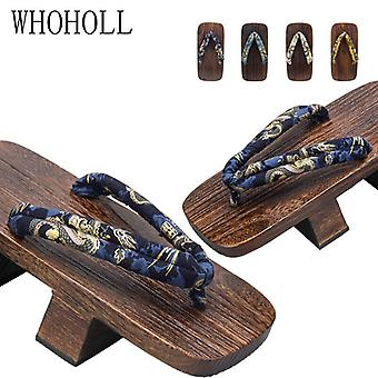 Clogs Slippers, Two Chinese Cosplay Costumes, Japanese Clogs Slippers, Platform Flip-flops-orchid Dragon