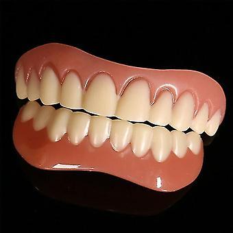 (övre och övre Nedre faner set) leende faner falska tänder snap-on instant faner kosmetiska tandproteser