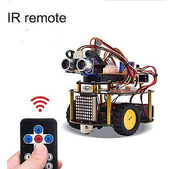 Intelligens robot autókészlet Arduino számára, korai szárú oktatás kezdő tizenévesek és gyerekek számára Tanulni áramkör, érzékelő - gyakorlati tapasztalat a programozásról, El