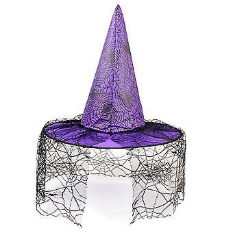 Frauen Hexenhut Zauberer Mütze Kopfbedeckung Halloween Kostüm