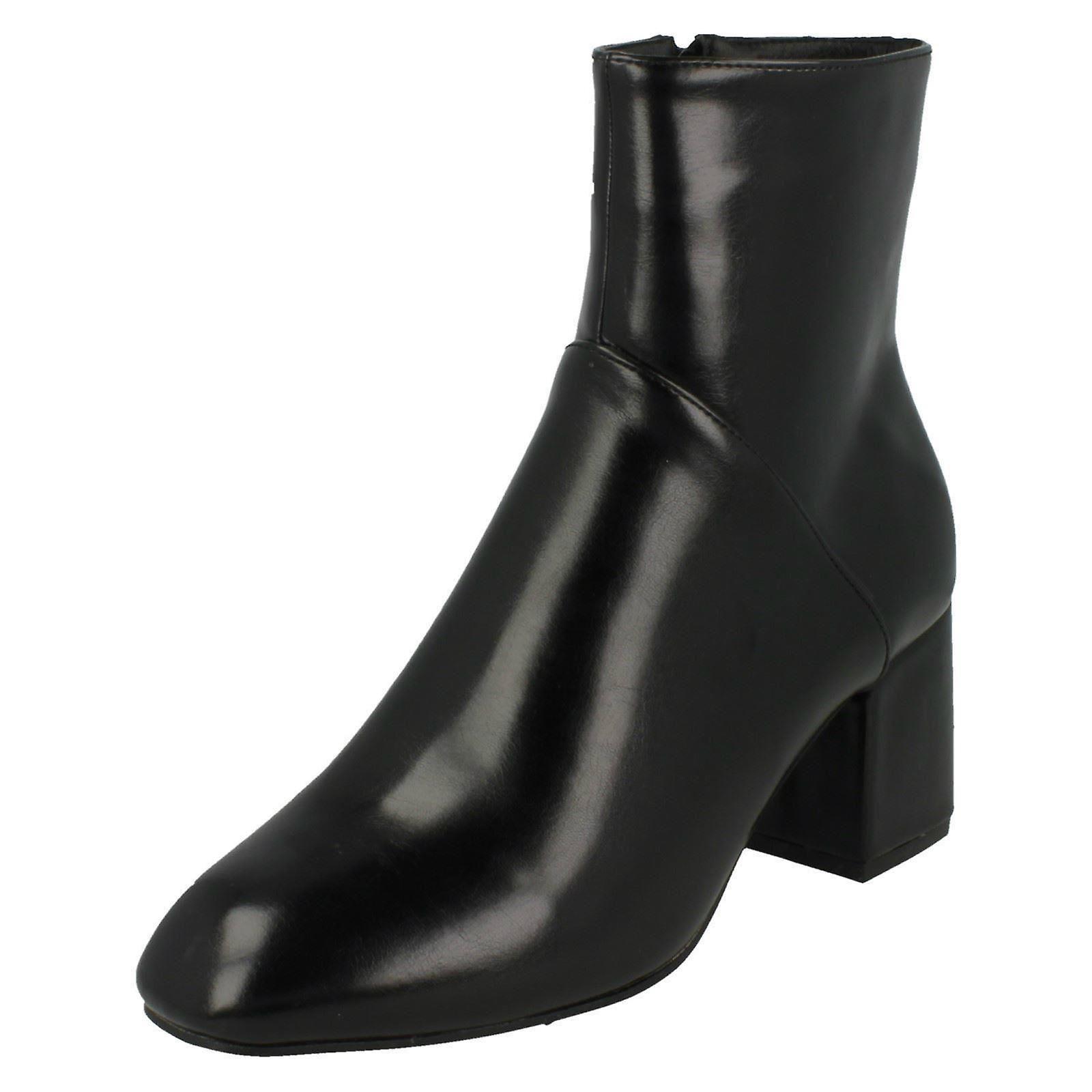 Ladies Spot On High Ankle Boots F50572 wrLDa