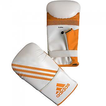 Adidas vak-Fit Open duim tas bokshandschoenen - wit/oranje