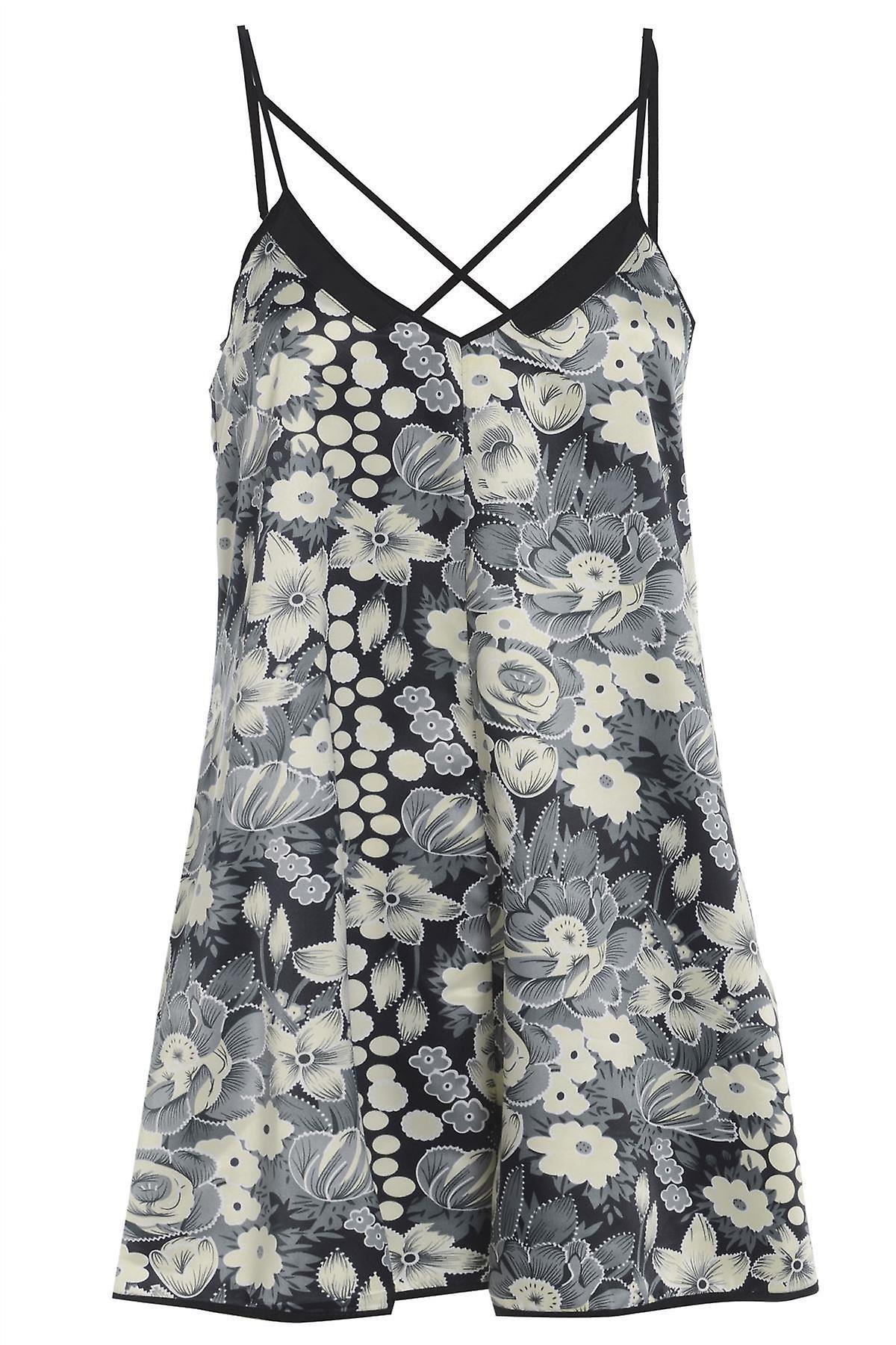 Floral Cross Back Playsuit TRS231-10