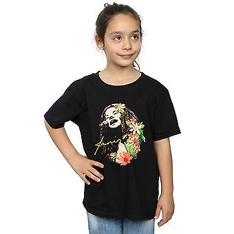 Janis Joplin Girls Floral Pattern T-Shirt