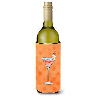 Summer Martini Orange Polkadot Wine Bottle Beverge Insulator Hugger