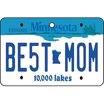 Minnesota - Best Mom License Plate Car Air Freshener