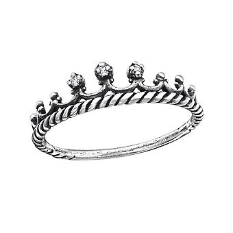 Crown - 925 Sterling Silver Jewelled Rings - W27894X