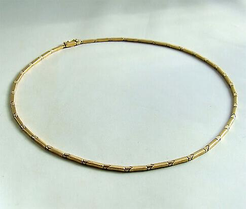 Christian bicolor gold necklace