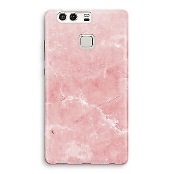 Huawei P9 fuld udskrive sag - Pink marmor