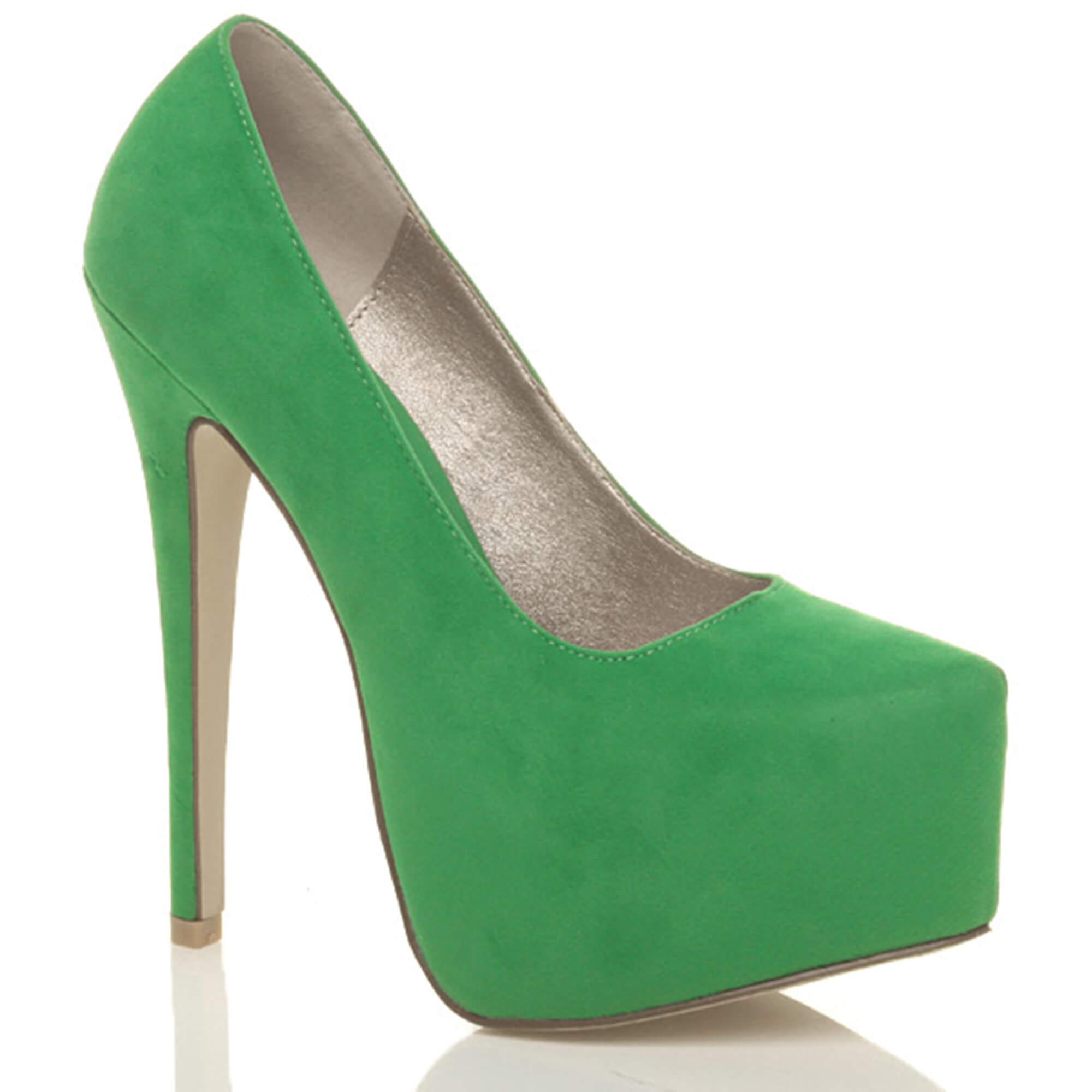 Ajvani damskie wysokie szpilki ukryte pompy buty platformy strony sądu QOJaa