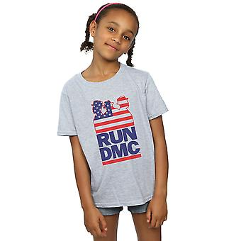 Run DMC Girls USA Silhouette T-Shirt