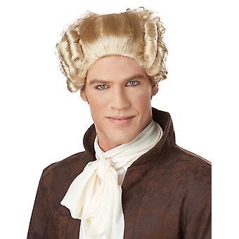 18th Century Peruke Blonde Judge Colonial Lawyer Barrister Mens Costume Wig