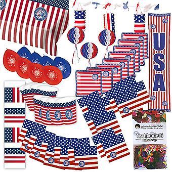 Pole strony USA Ameryka 50-teilig ozdobę gwiazdy i paski pakietu strony