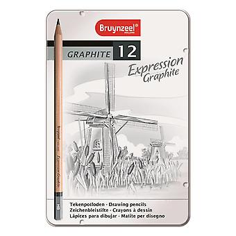 Bruynzeel Expression Graphite Pencil Set of 12