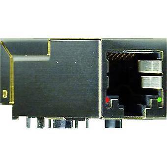 Modular mounted socket Socket, horizontal mount Number of pins: 8P8C+2 Y-CONJACK-21 Metal, Nickel-coated Yamaichi Y-CONJACK-21 1 pc(s)
