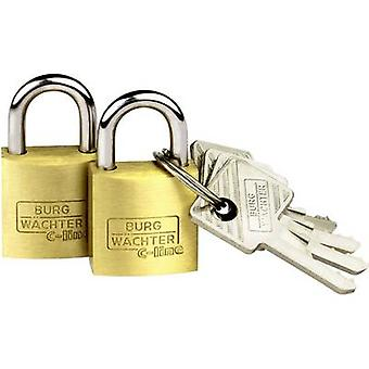 Burg Wächter 2er Set Duo 222 20 SB Padlock Brass Key