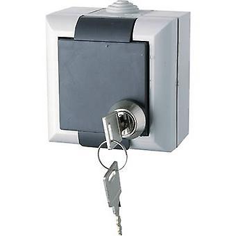 GAO EFO600G/K Wet room switch product range PG socket (lockable) Business-Line Grey