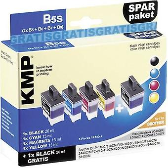 KMP Ink replaced Brother LC-900 Compatible Set Black, Cyan, Magenta, Yellow B5S 1034,0005