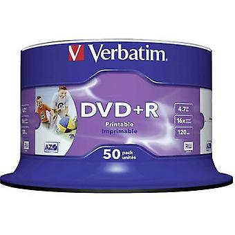 Ordrett 43512 tom DVD + R 4,7 GB 50 PC (er) spindel Printable