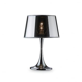Ideal Lux London Chrome Table Lamp Big
