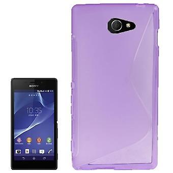 S line TPU asia pussiin Sony Xperia M2 S50h lila / violetti