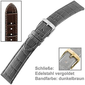 Смотреть ремешок для Мужские часы коричневой телячьей кожи u ремешок Мужчины 22 мм