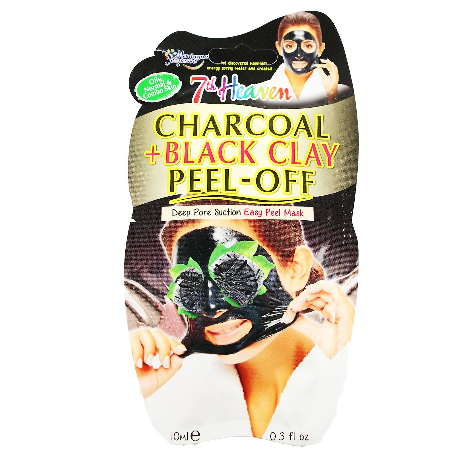 7th Heaven Face Mask Charcoal & Black Clay Peel Off
