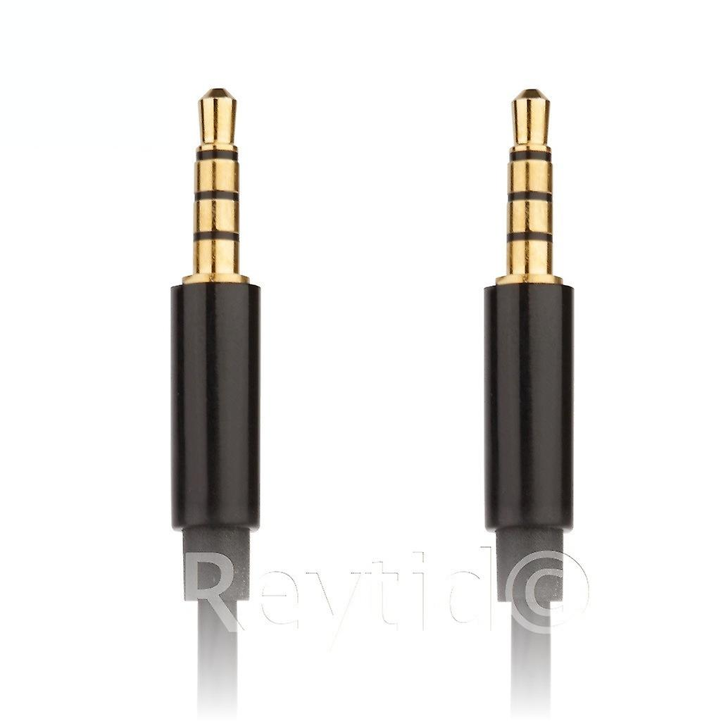 REYTID Talkback Chat Cable Compatible with Sony Gold Playstation 4 Wireless Gaming Headset PS4 Lead - PSN Online Wire Aux 4-Pole Gold Plated