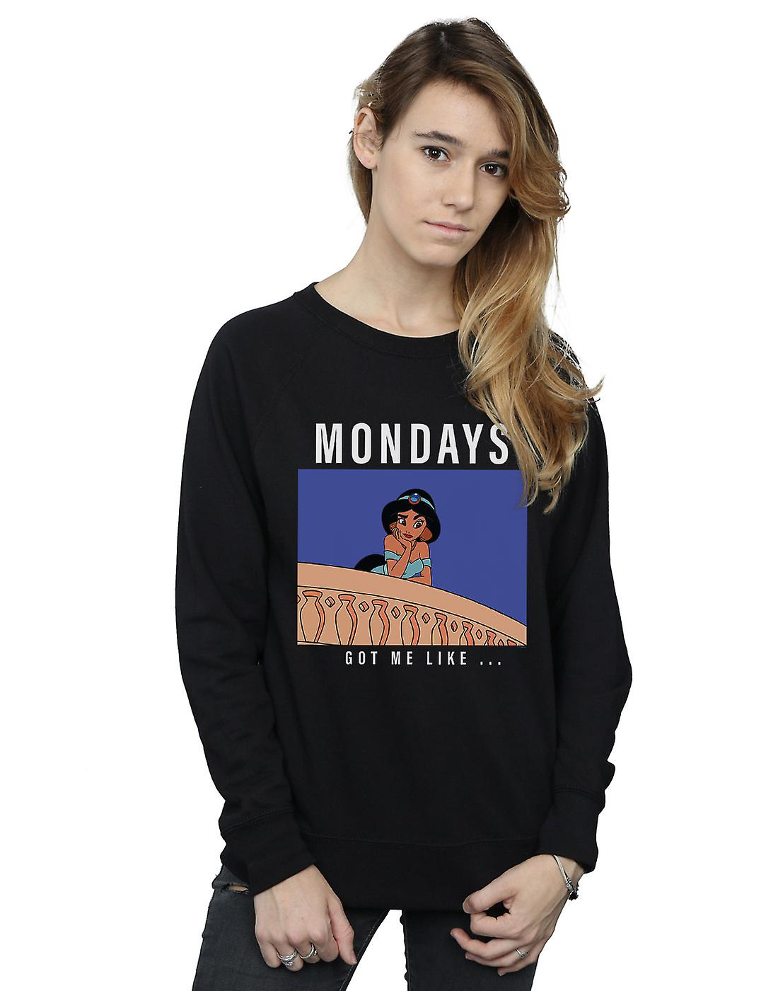 Disney Princess Women's Jasmine Mondays Got Me Like Sweatshirt