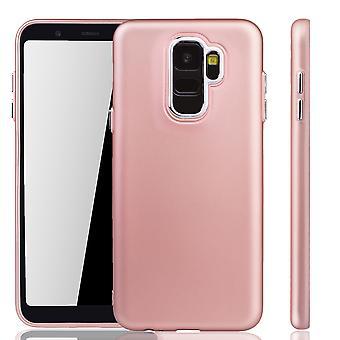 Samsung Galaxy A6 2018 cas - cas de téléphone portable pour Samsung Galaxy A6 2018 - mobile en rose rose