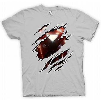 Herr T-shirt - Iron Man 2 triangel Arc - superhjälte slet Design